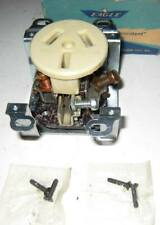 Vtg Eagle Bakelite 50A 125/250V Flush Range & Power Receptacle Wh. Double Gang