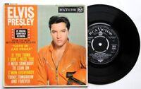"""EX/EX Elvis Presley LOVE IN LAS VEGAS 1964 EP (RCX 7141) VIVA! 7"""" VINYL"""