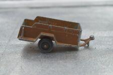 Vintage Die Cast Metal Tootsie Toy Brown Copper Army Military Trailer Chicago