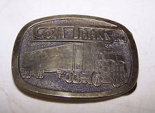 Vintage COM TRANS INC Belt Buckle - Semi Truck Trucking Company