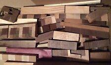 Assorted Exotic Hardwood Scraps Black Walnut, Cherry, Maple, Purple Heart