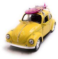 VW Coccinelle Beetle Hardtop Maquette de Voiture Auto Surf Jaune Échelle 1:3 4