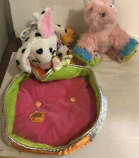 Lot of 2 Groovy Girls Plush Pets Dogs And Pet Bed
