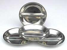 4 Stk.Edelstahlteller mit Trennsteg Durchmesser 17 cm Tiefe 2,5 cm