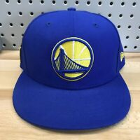 Golden State Warriors NBA Basketball New Era 9FIFTY SnapBack Hat EUC Blue Cap