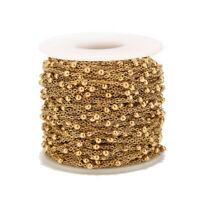 2meters Gold Stainless Steel Ball Chains Cable Beaded Ball Chain for Necklace