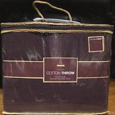 Luxury BROWN 100% Cotton Sofa / Bed Throw 180x230