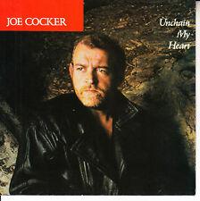 "JOE COCKER  Unchain My Heart PICTURE SLEEVE 7"" 45 record + juke box title strip"