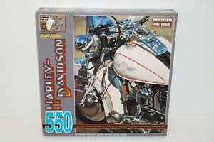 "Harley Davidson 550 Piece Scott Jacobs Rose Art Puzzle 18"" X 24"""