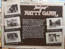 THE JOURNEY OF NATTY GANN(1985) Rare original UK quad storyboard  movie poster