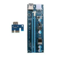 PCI-E Riser Card PCIe 1x to 16x USB 3.0 for Bitcoin Mining with 15Pin-6Pin Cable