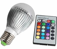 10W E27 E26  AC 85-265V 16 Color Changing LED RGB Magic Light Bulb Lamp +Remote