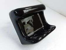 Black Ceramic Soap Dish Tray Washcloth Holder Grab Bar Mid Century Modern Retro