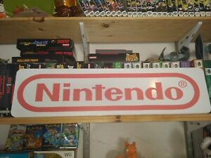 "Nintendo Sign, Aluminum Retail Display, 6"" x 24"". Video Games!"