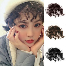 Women Natural Fluffy Curly Fake Fringe Bang Clip-in Hair Extension Hairpiece SMA