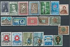 1963 ITALIA USATO ANNATA 19 VALORI - ED03