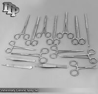 20 Piece Veterinary Canine Spay Set Kit Pack Dog surgical DS-867