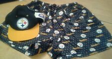 Nfl Pittsburgh Steelers Women's Sleep Shorts Sz L & Hat Nice Gift