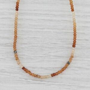 New Nina Nguyen Harmony Necklace Garnet Bead Sterling Silver Long Adjustable