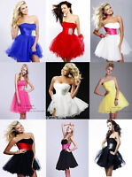 Black Friday Sale  Short Prom Dress Ball Gown Cocktail Party Dress Size 6-16