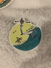 Summer Surfing Sticker Skeleton