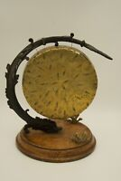Antique/Vintage Oriental Dinner Gong. Table Top. Metal Dragon Shaped Stand.