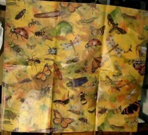 """'BUGS""""  & """"BUTTERFLIES"""" GIFT WRAPPING TISSUE - 10 SHEETS   20"""" X 30"""""""