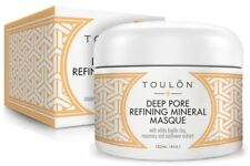 Deep Pore Refining Mask White Kaolin Clay for Acne Face w/ Sunflower Rosemary