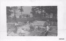 C-1910 Block Masonry Construction Work Crew Occupation RPPC Real Photo 1408