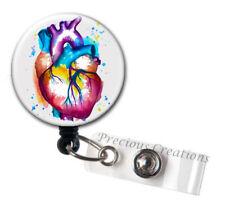 Cardio ID Badge Reel Holder Clip Holder Retractable Nurse Cute RN Medical