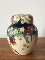 Small Moorcroft Ginger Jar Meadow Charm Nicola Slaney Stamped Handpainted 2003