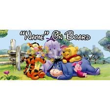 Winnie l'ourson personnalisé bébé à bord voiture signe (2)