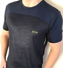 Hugo Boss T-Shirt Uomo Green Label NUOVO con etichetta nuova luce blu taglia XL * Moderno Fit *