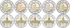 Deutschland 2 Euro 2018 Schmidt und Charlottenburg 10 Münzen Satz Mzz A D F G J