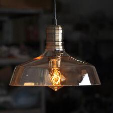 Glas Vintage Industrie Pendelleuchte Hängeleuchte Loft Edison Lampen Dekolampe