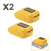 2 x USB Phone Battery Charger For DeWALT DCB090 Adapter 12V/20V Max Power Source
