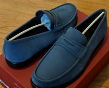 """$595 Mens Salvatore Ferragamo """"Connor"""" Leather Penny Loafers Blue US 11 E"""