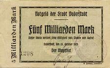 Germany 5 Billions Mark 1923 Duderstadt 1298