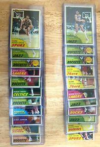 1981-82 Topps Basketball (22) Card Lot Semi-Stars/Commons w/ Top Loaders JA