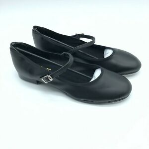 Theatricals Womens Tap Shoes Mary Jane Faux Leather Black Size 6.5