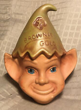 "1950's or 1960s Girl Scouts ""Brownie Gold"" Ceramic Elf Coin Bank-Great Condition"