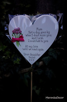 Memorial heart-Special Mum, Nan, Dad Grave Ornament-Personalised-Not a day goes