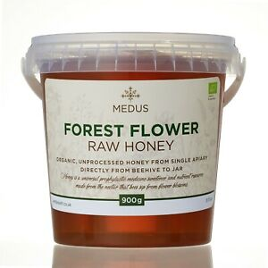1.8kg ORGANIC Forest flower HONEY PURE RAW 100% NATURAL Wild sweetener 2 tubs
