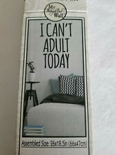 """My Thoughtful Wall Vinyl Lettering Wall Art """"I Can'T Adult Today"""" NiT"""