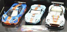 Scalextric Gulf Ford GT40 McLaren F1 Aston Martin DBR9 1/32 Slot Car Set C4109A