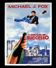 IL SEGRETO DEL MIO SUCCESSO manifesto poster Michael J. Fox Secret My Success D9