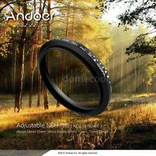 Andoer 77mm ND Fader Adjustable ND2 to ND400 Variable Filter Kit for DSLR Camera