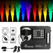 1500W Smoke Fog Machine RGB 24LED 3IN1 Stage Light DMX Wireless Remote Fogger