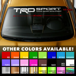 """Windshield Banner Vinyl Decal Sticker 40x4"""" for TRD 4RUNNER TACOMA TOYOTA TUNDRA"""