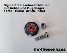 Sigma Ersatzschneidrädchen 19mm mit Achse & Kugellager für Fliesenschneider Max